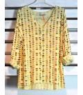 HEME DRESSING A19058-2 Camiseta Amarillo