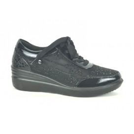 AMARPIES AST18845 Zapato Negro