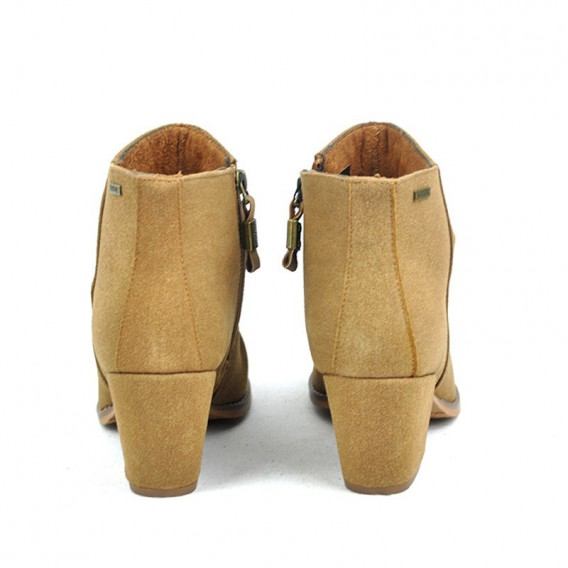 BOTIN CREMALLERA SUED LEATHER TACON MADIO